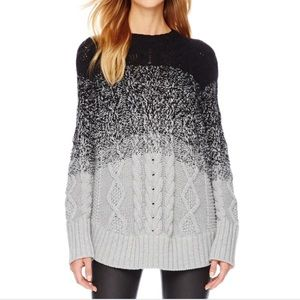 Michael Kors ombre sweater poncho